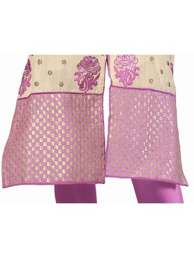 Khushali Fashion Chanderi Embroidered Dress Material -Ssblfr1004