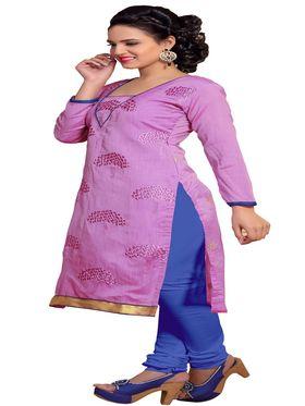 Khushali Fashion Chanderi Embroidered Unstitched Dress Material -SSKV41006