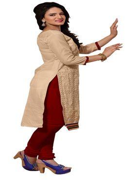 Khushali Fashion Chanderi Embroidered Unstitched Dress Material -SSKV41012