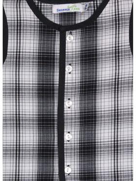 ShopperTree Checkered Black Cotton Yarn Dyed Check Twin set-ST-1716