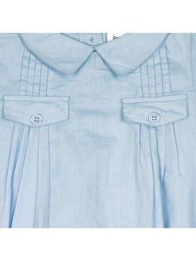 ShopperTree Solid Blue Cotton Romper-ST-1722