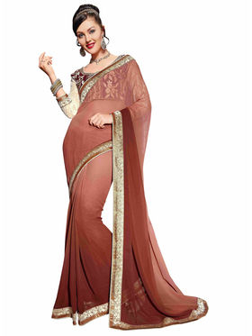 Khushali Fashion Georgette Embroidered Saree -Stast3212