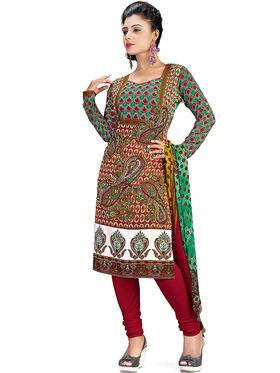 Khushali Fashion Crepe Printed Dress Material -Swsvh1004