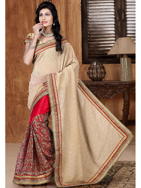 Viva N Diva Lycra and net Embroidered Saree Sangini-188