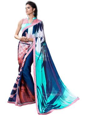 Nanda Silk Mills Fancy Printed Saree_Sap-306