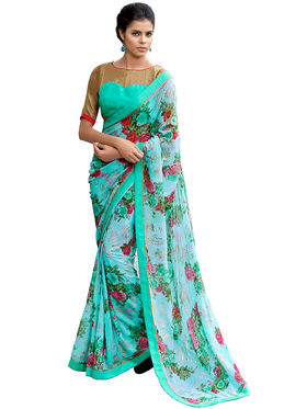 Nanda Silk Mills Fancy Printed Saree_Sap-312