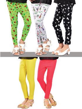 Set of 5 Leggings for Girls
