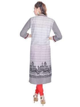 Shop Rajasthan 100% Pure Cotton Printed Kurti - Grey - SRE2302