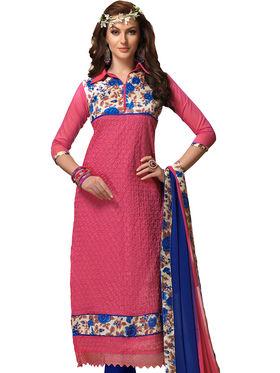 Viva N Diva Chanderi Bhagalpuri Karachi Embroidered Unstitched Suit Suhaani-1003