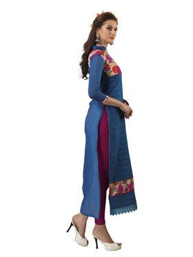 Viva N Diva Chanderi Bhagalpuri Karachi Embroidered Unstitched Suit Suhaani-1009