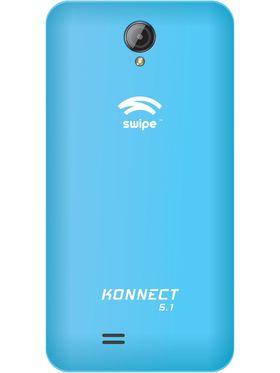 Swipe Konnect 5.1 Android Kitkat Quad Core processor with 1GB RAM & 8GB ROM - Blue