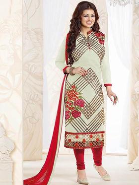 Thankar Semi Stitched  Georgette Embroidery Dress Material Tas270-0767