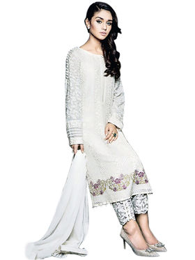 Thankar Semi Stitched  Georgette Embroidery Dress Material Tas283-2160