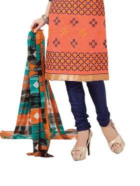 Thankar Semi Stitched  Cotton Embroidery Dress Material Tas288-2412