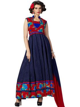Thankar  Embroidered Banglori Silk Semi Stitched Anarkali Suit Tas289-9709