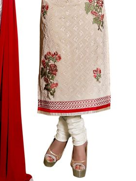 Thankar Embroidered Georgette Semi-Stitched Suit  -Tas319-25003