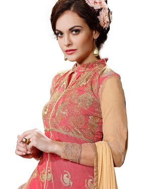 Thankar Embroidered Georgette Semi-Stitched Suit  -Tas323-1016 J