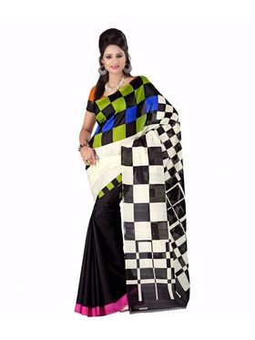 Pack of 2 Thankar Printed Bhagalpuri Saree -Tds137-215.216