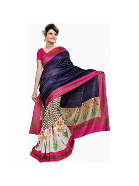 Pack of 2 Thankar Printed Bhagalpuri Saree -Tds137-227.228
