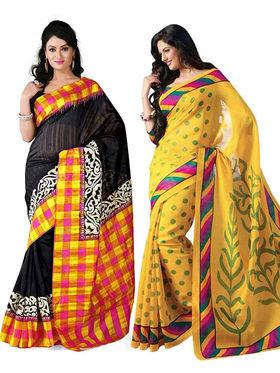 Pack of 2 Thankar Printed Bhagalpuri Saree -Tds137-183.184