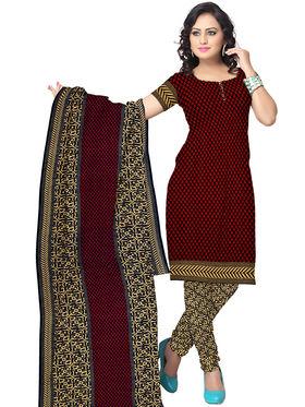 Triveni's Crepe Printed Dress Material -TSLCSK5010