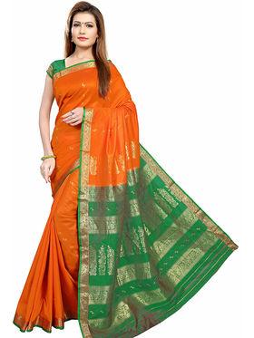 Triveni's Art Silk Zari Worked Saree -TSMRCC3002