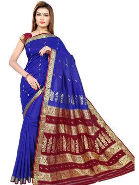 Triveni's Art Silk Zari Worked Saree -TSMRCC3003