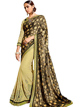 Triveni's  Georgette Shimmer Border Work Saree -TSN97025