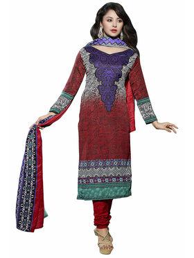 Triveni's Blended Cotton Printed Dress Material -TSSTBHSK4008