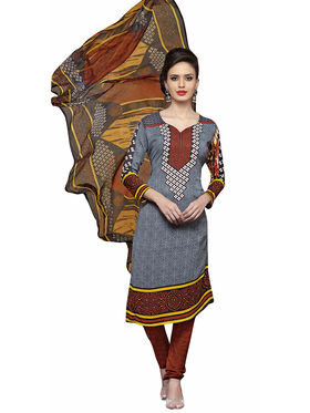 Triveni's Polyester Printed Dress Material -TSSTHRSK2006
