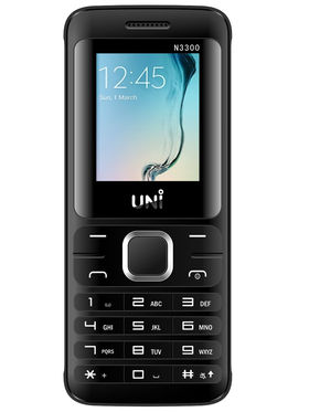 UNI N3300 1.8 Inch Triple Sim Mobile - Black