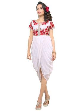 Viva N Diva Georgette Floral Embroidery Kurtis -Vnd Vol 03-1010