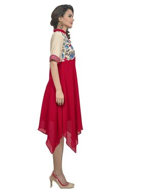 Viva N Diva Georgette Floral Embroidery Kurtis -Vnd Vol 03-1013