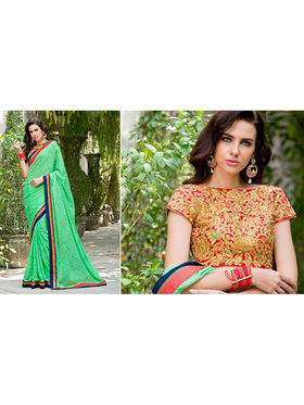 Nanda Silk Mills Embroidered Light Green  Saree_VR-2207