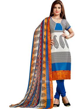 Khushali Fashion Silk Printed Unstitched Dress Material -VRIS21028