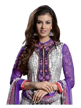 Khushali Fashion French Crepe Embroidered Dress Material -Vrvmtr6007