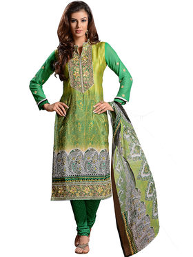 Khushali Fashion French Crepe Embroidered Dress Material -Vrvmtr6009