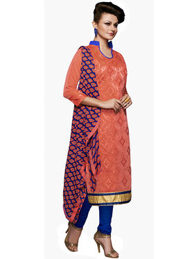 Khushali Fashion Chanderi Embroidered Unstitched Dress Material -VSIDC451010