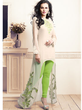 Viva N Diva Bamberg Georgette Embroidered Kurti - Cream - VND-1061