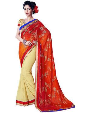 Nanda Silk Mills Fancy Print &Georgette  Party Wear Saree_WOMANIYA-3805
