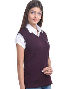 Eprilla Spun Cotton Plain Sleeveless Sweater  -eprl04
