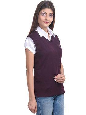 Pack of 2 Eprilla Spun Cotton Plain Sleeveless Sweaters -eprl08