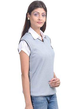 Pack of 2 Eprilla Spun Cotton Plain Sleeveless Sweaters -eprl10