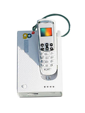 World's Smallest Phone with Docking Station