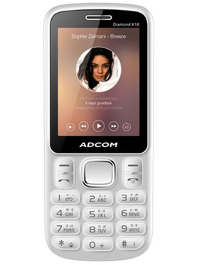 Adcom Diamond X18 Dual Sim Mobile-White & Blue