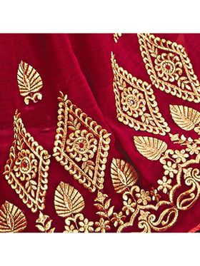 Khushali Fashion Embroidered Chiffon Half & Half Saree_KF76