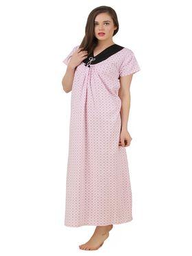 Fasense Cotton Printed Nightwear Long Nighty -YT018B1
