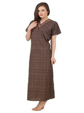 Fasense Cotton Floral Print Nightwear Long Nighty -YT019B1