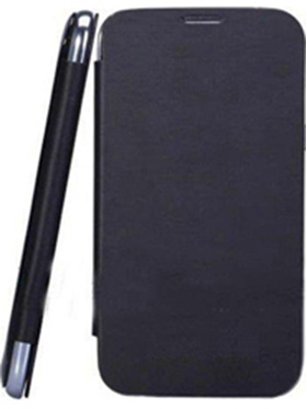 Feomy Flip Cover For Micromax A76   Black available at Naaptol for Rs.156
