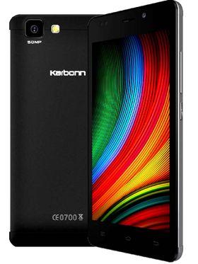 Karbonn Titanium Dazzle2 S202-Black 5 Inch FWVGA IPS, Quad Core, 1GB RAM, 8GB ROM, 3G Dual Sim Mobile